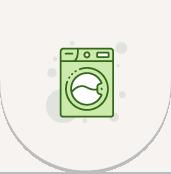 業務用洗濯機・乾燥機でもはがれない